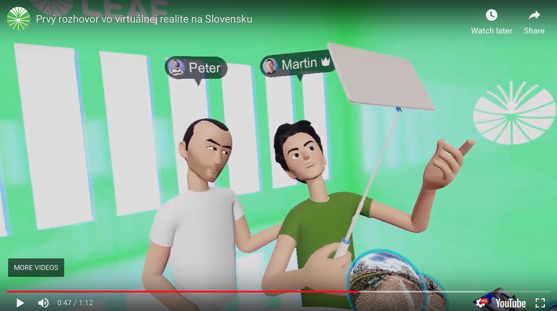 Na Slovensku sa uskutočnil prvý rozhovor vo virtuálnej realite