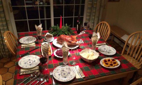 Sviatočné stolovanie v rodine USA
