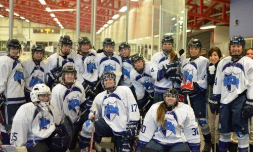 Stredoškolské dievčenské hokejové družstvo